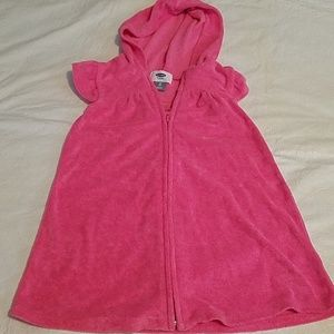Old Navy Pink Hooded Bathing Suit Coverup Sz 3T